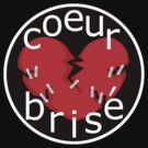 coeur brise logo with black background by telberry