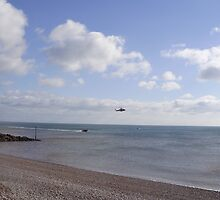 coastguard helicopter and lifeboat  by brucemlong