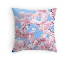 Blooming cherry tree - flower / floral design Throw Pillow