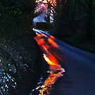 Road aglow by Polly x