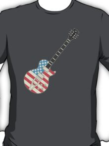 USA Flag Guitar T-Shirt