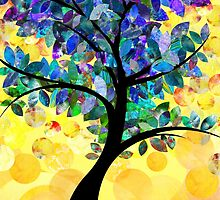 Colorful abstract tree by kennasato