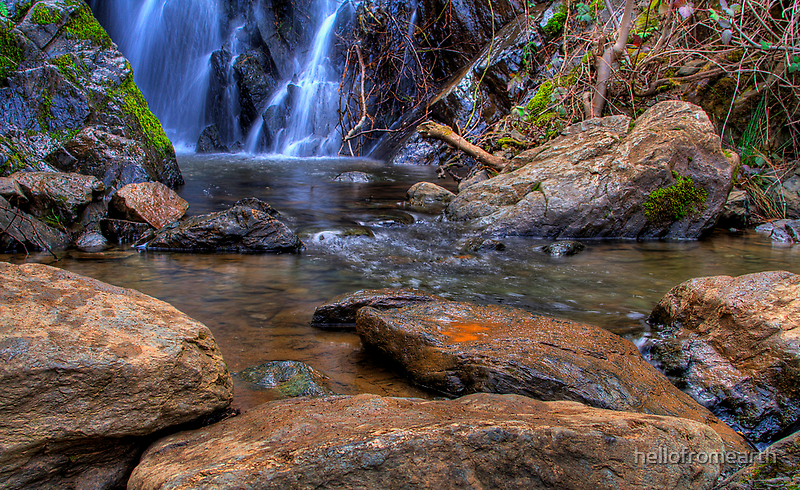 Rock Pond Waterfall By Hellofromearth Redbubble