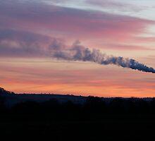 Red Sky over Westbury by Jackie O.