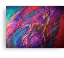 Pastel Abstract Deer Canvas Print