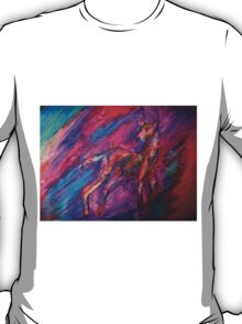 Pastel Abstract Deer T-Shirt