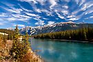 Athabasca River at Jasper, Alberta, Canada . by photosecosse /barbara jones