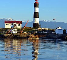 Lighthouse Reflected  by Leona Bessey