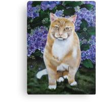 Cat purple hydrangea tote bag Canvas Print