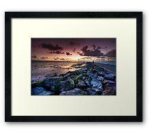The Sunset Path Framed Print