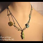 Green Messy Doll Necklace. by uglyshyla