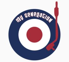 My Generation Vinyl Record Mod Target T-Shirt by SonicContours
