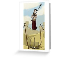 Princess Leia on the Wire Greeting Card