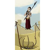 Princess Leia on the Wire Photographic Print