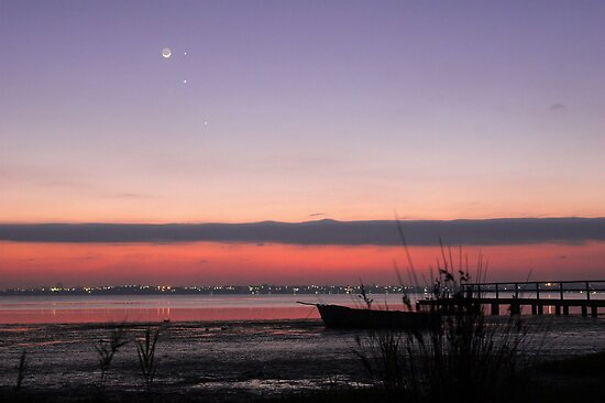 Conjunction at Dawn - Moon, Mercury, Jupiter and Mars by Mike Salway