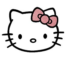 Hello Kitty w/ Red Glitter Bow by CraftyCreepers