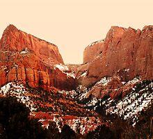 Kolob Canyon - Morning Light by Ryan Houston