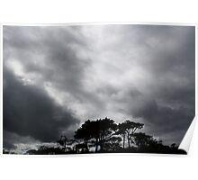 Silhouette Beach Poster