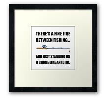 Fishing Line Framed Print