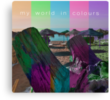 My world in colours Canvas Print