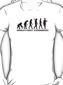 Evolution world's best stewardess T-Shirt