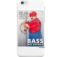 SexyMario MEME - All About That Bass iPhone Case/Skin