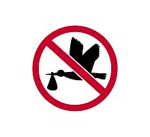 No stork baby Photographic Print