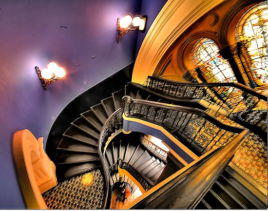 """Watch The FIrst Step - """"The Grand Staircase"""" -Queen Victoria Building - The HDR Experience by Philip Johnson"""