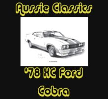 78 Ford XC Cobra - Aussie Classics (Black Text) by Joseph Colella