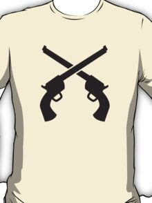 Gunslinger Guns crossed T-Shirt