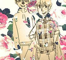 Floral Rei and Nagisa  by pandapictures