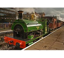 Steam Locomotive at Bolton Street Station, Bury Photographic Print