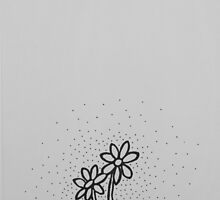 Daisies Gray by karriezenz
