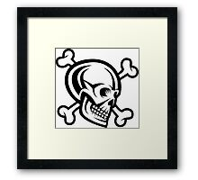 Pirate Skull and Bones Design Framed Print