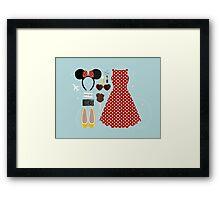 Disney Flatlay Framed Print