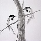 Chikadees by Suzi Linden