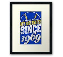 Milwaukee Baseball Retro Framed Print
