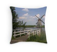 Windmill  Kinderdijk  Throw Pillow