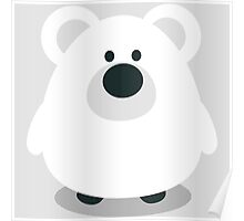 Cute Polar Bear Poster