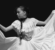 Folkloric Dancer in BW by Guy Tschiderer