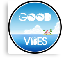 Good Vibes Island Canvas Print