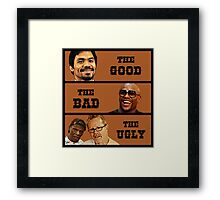 Pacquiao vs. Mayweather May 2nd Fight T Shirt Framed Print
