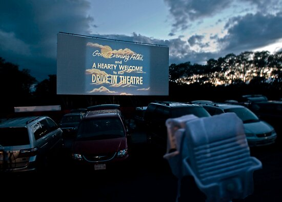 Drive-In Movie Theater (Wellfleet, Cape Cod) by Christopher Seufert
