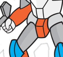 Mecha Robot Holding Ray Gun Isolated Sticker