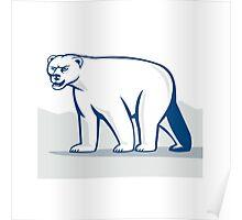 Polar Bear Isolated Cartoon Poster
