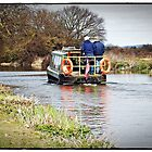 Narrow Boat on Chichester Canal. by Malcolm Chant