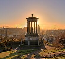 Sun Setting over Edinburgh by Miles Gray