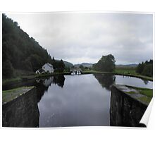 View of the Locks on Crinan Canal Poster