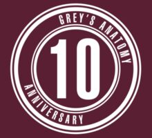 Grey's Anatomy - 10 Year Anniversary by televisiontees