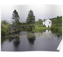 Cottage on the Crinan Canal Poster